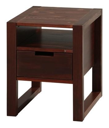 Dřevěný noční stolek k postelím Rhino brown. Gazel